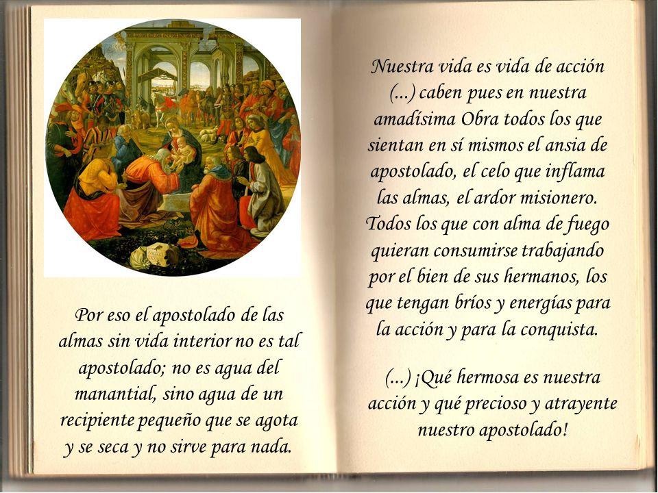 ¿No es verdad que parece como si el santo doctor hubiera pensado en nosotros? (...) Porque ésta es nuestra específica vocación y nuestra vida propia y