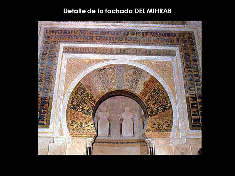 Detalle de la fachada DEL MIHRAB