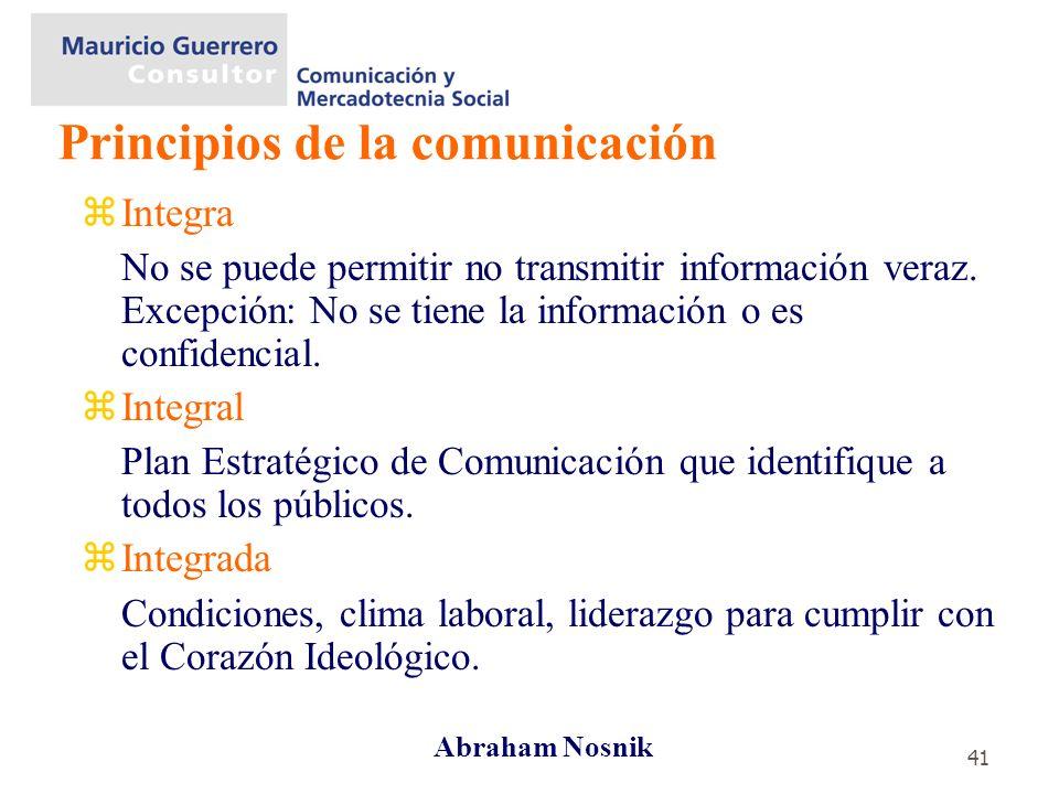 41 zIntegra No se puede permitir no transmitir información veraz. Excepción: No se tiene la información o es confidencial. zIntegral Plan Estratégico