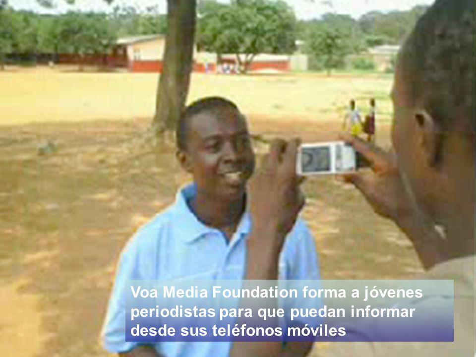 Voa Media Foundation forma a jóvenes periodistas para que puedan informar desde sus teléfonos móviles