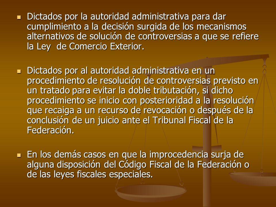 Dictados por la autoridad administrativa para dar cumplimiento a la decisión surgida de los mecanismos alternativos de solución de controversias a que