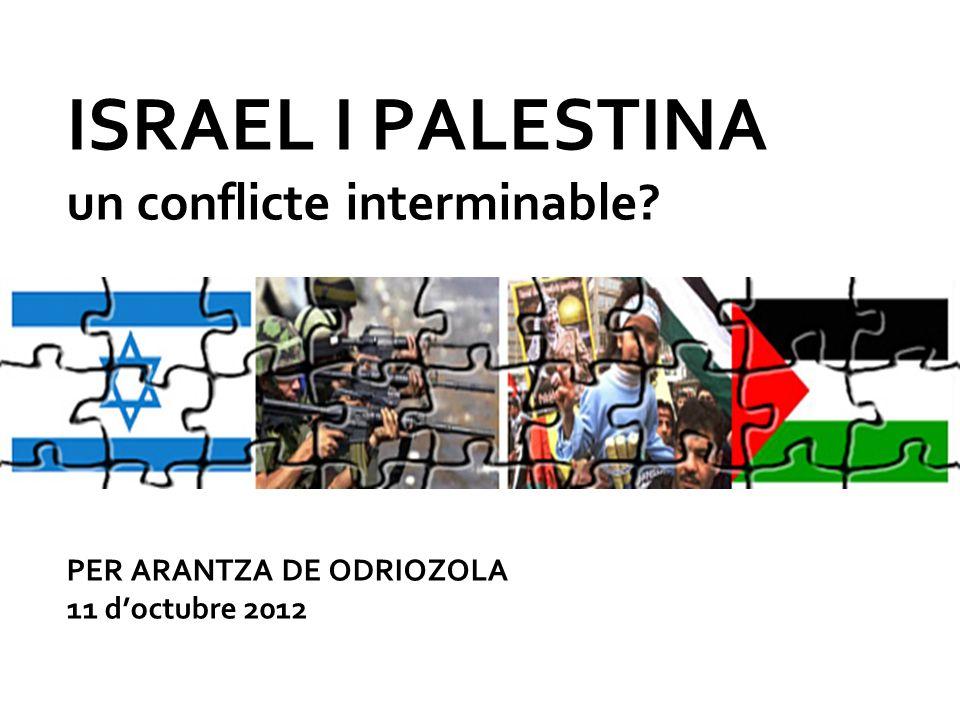 ISRAEL I PALESTINA un conflicte interminable PER ARANTZA DE ODRIOZOLA 11 doctubre 2012