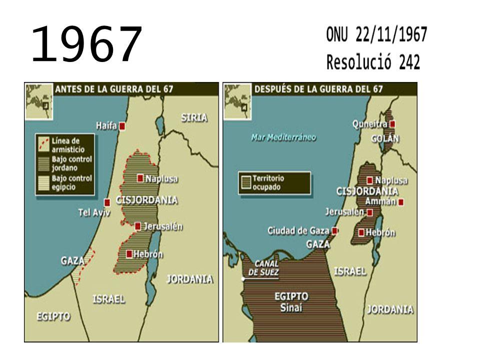 SITUACIÓ JUEVASITUACIÓ PALESTINA 1948 Resolucio ONU El nacimiento del Estado judío encontró un apoyo universalmente favorable, tanto en Occidente como en el bloque del Este.
