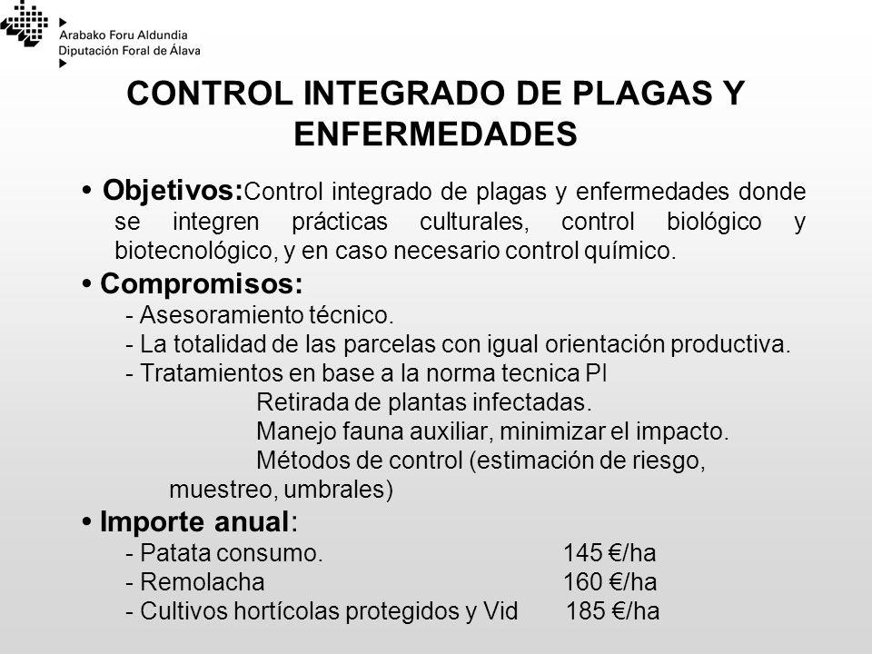 CONTROL INTEGRADO DE PLAGAS Y ENFERMEDADES Objetivos: Control integrado de plagas y enfermedades donde se integren prácticas culturales, control bioló