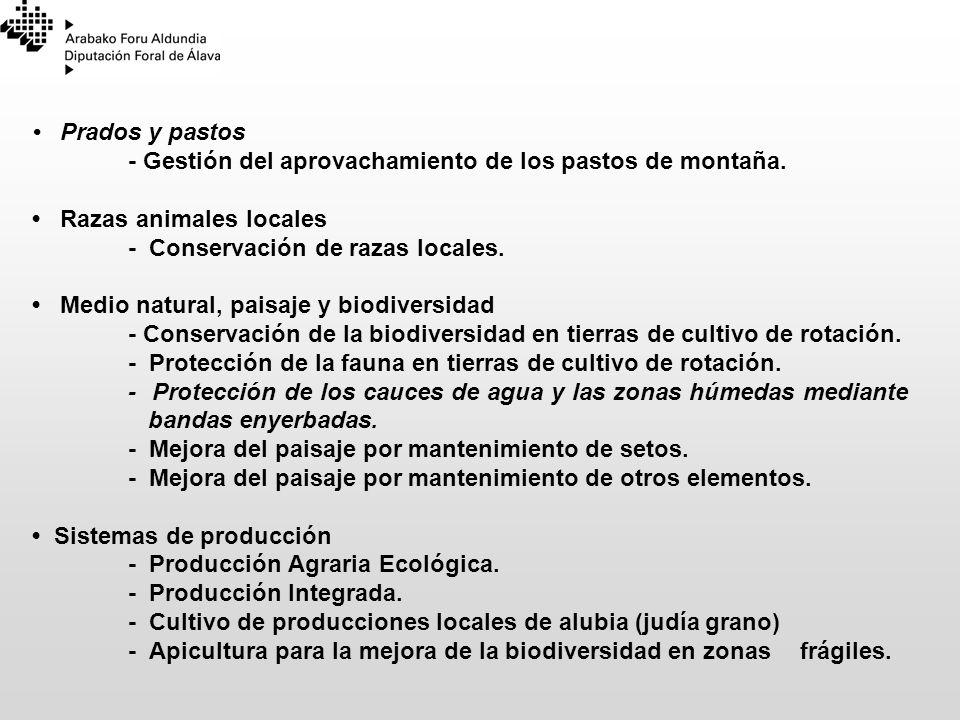 Prados y pastos - Gestión del aprovachamiento de los pastos de montaña. Razas animales locales - Conservación de razas locales. Medio natural, paisaje