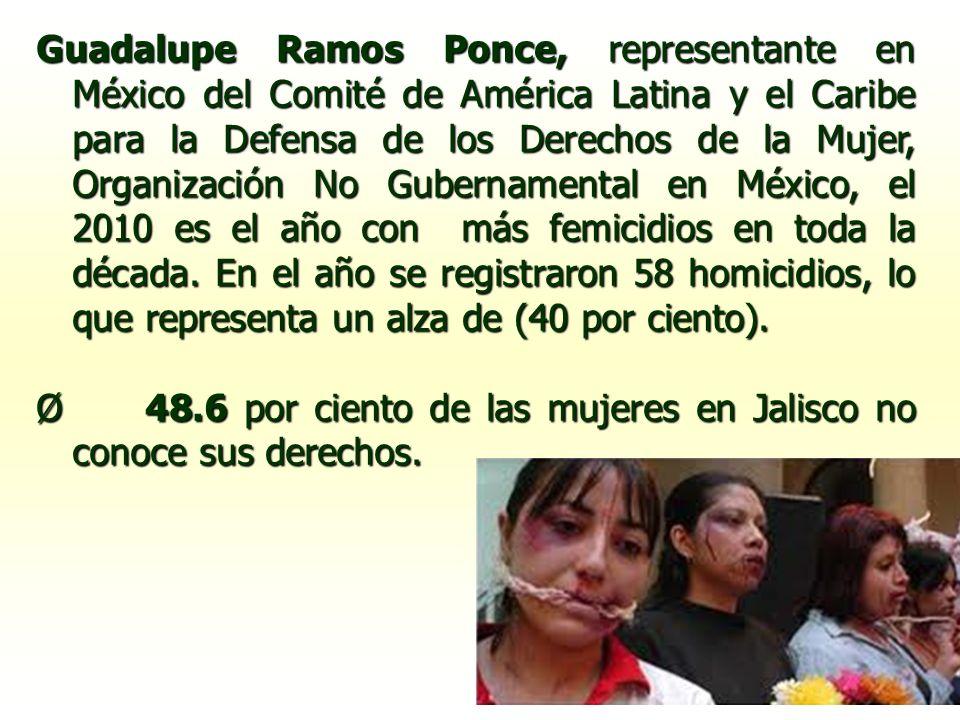 Guadalupe Ramos Ponce, representante en México del Comité de América Latina y el Caribe para la Defensa de los Derechos de la Mujer, Organización No G