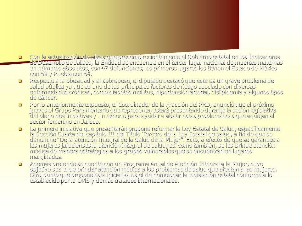 Con la actualización de cifras que presentó recientemente el Gobierno estatal en los Indicadores de Desarrollo de Jalisco, la Entidad se encuentra en