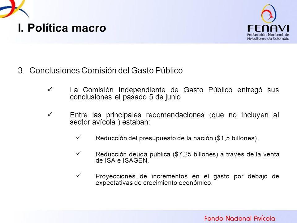 I. Política macro 3. Conclusiones Comisión del Gasto Público La Comisión Independiente de Gasto Público entregó sus conclusiones el pasado 5 de junio