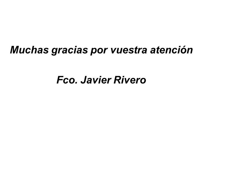 Muchas gracias por vuestra atención Fco. Javier Rivero