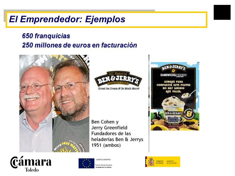 El Emprendedor: Ejemplos 650 franquicias 250 millones de euros en facturación