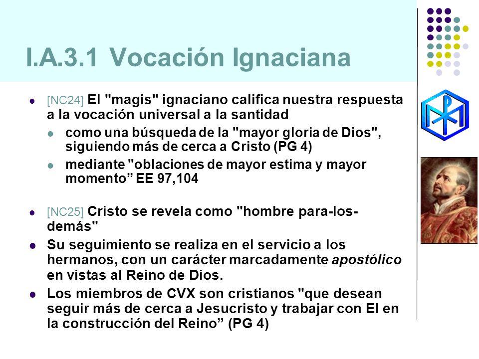I.A.3.1 Vocación Ignaciana [NC24] El