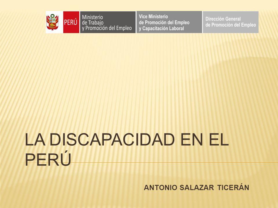 LA DISCAPACIDAD EN EL PERÚ ANTONIO SALAZAR TICERÁN