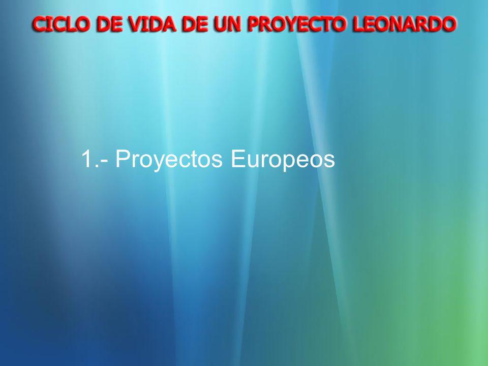 1.- Proyectos Europeos