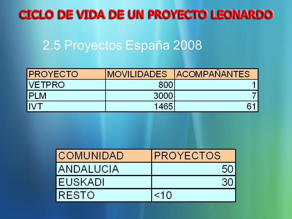 2.5 Proyectos España 2008