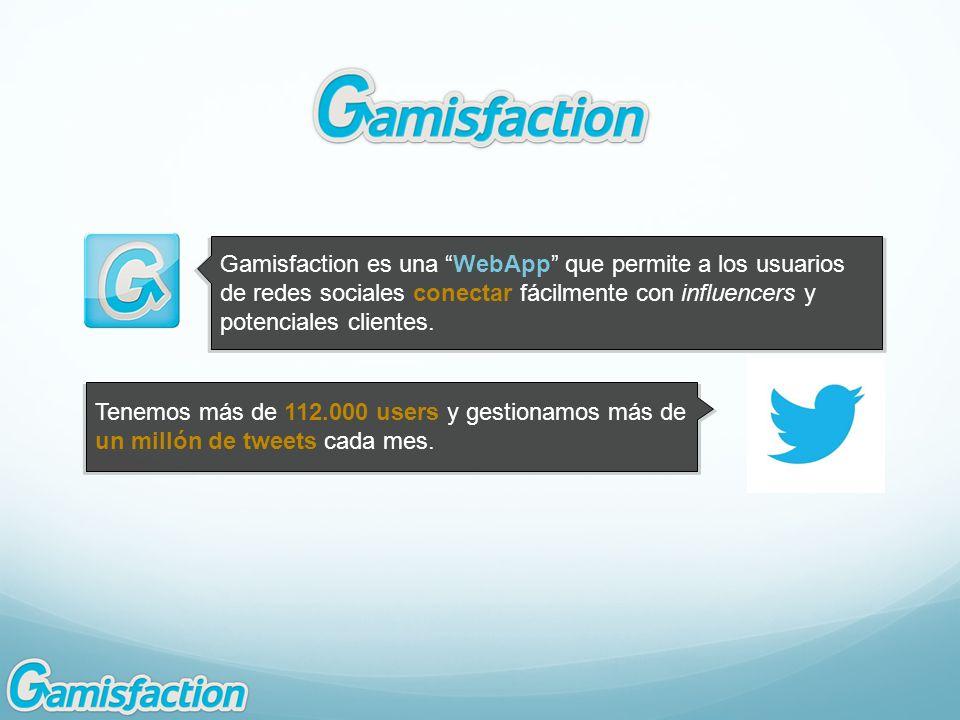 Tenemos más de 112.000 users y gestionamos más de un millón de tweets cada mes.