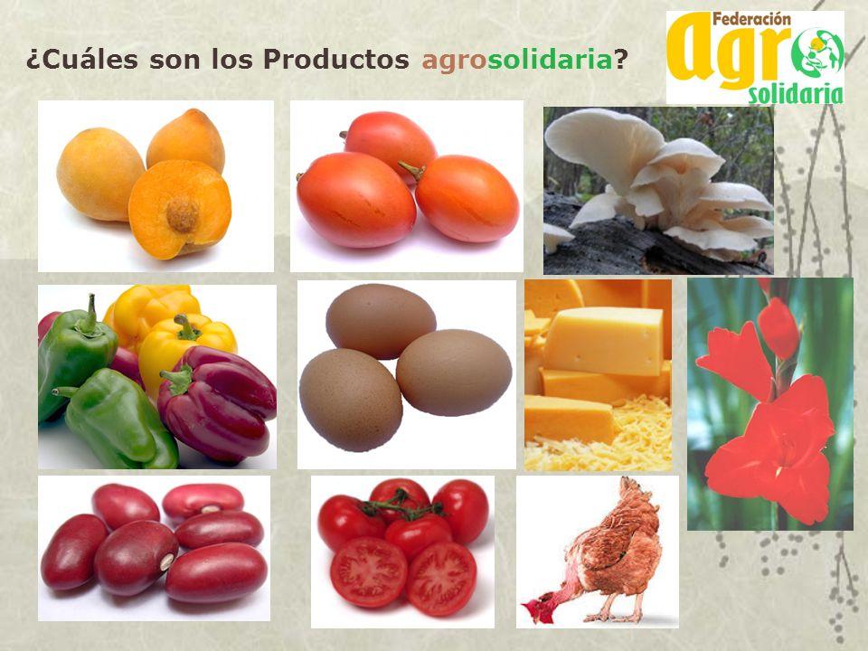 ¿Cuáles son los Productos agrosolidaria?