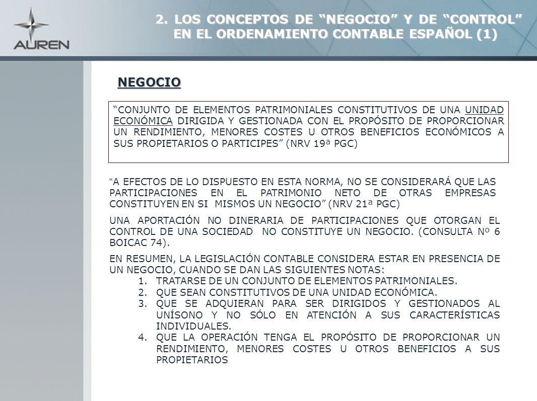 25 -PARTICIPACIONES EN EL PATRIMONIO DE EMPRESAS DEL GRUPO (ACCIONES) Consulta 6 BOICAC nº.74 SOCIEDAD APORTANTE -SI SE CONCLUYE QUE SE ASIMILA A PERMUTA NO COMERCIAL VALOR CONTABLE (práctica totalidad del capital) (NO REGISTRO DE RESULTADO) -SI SE ASIMILA A COMERCIAL VALOR RAZONABLE DE ACTIVO ENTREGADO (SE REGISTRA RESULTADO) SOCIEDAD RECEPTORA / BENEFICIARIA NRV 21ª NRV 9ª 2.5.