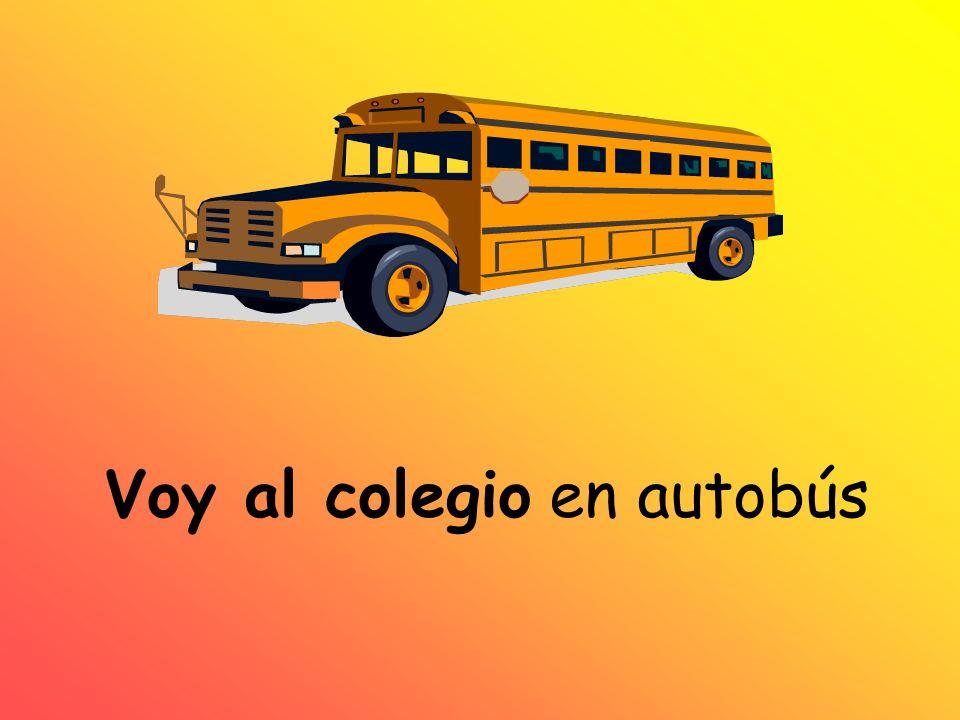Voy al colegio en autobús