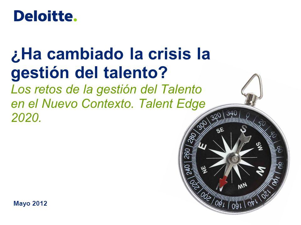 © 2012 Deloitte, S.L.2 ¿¿Y… EL TALENTO?.