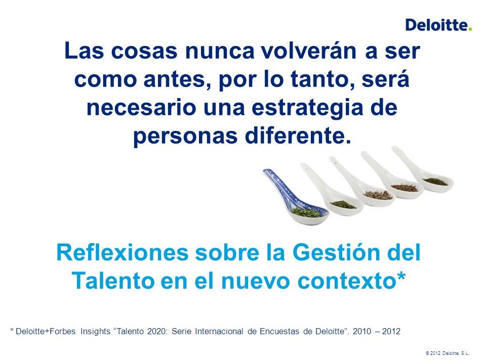 Mayo 2012 ¿Ha cambiado la crisis la gestión del talento.