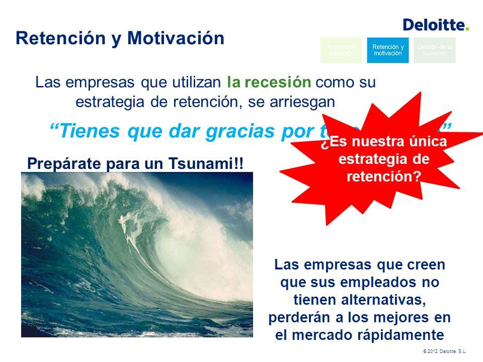 © 2012 Deloitte, S.L.El dinero es importante… … pero el cariño también!.