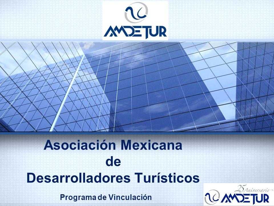 A M D E T U R Es la Asociación que representa al sector de Desarrolladores Turísticos en México, y se enfoca a atender el quehacer conjunto entre autoridades e iniciativa privada a través de la concertación de criterios y reglamentación a fin de impulsar a la industria turística inmobiliaria de México.