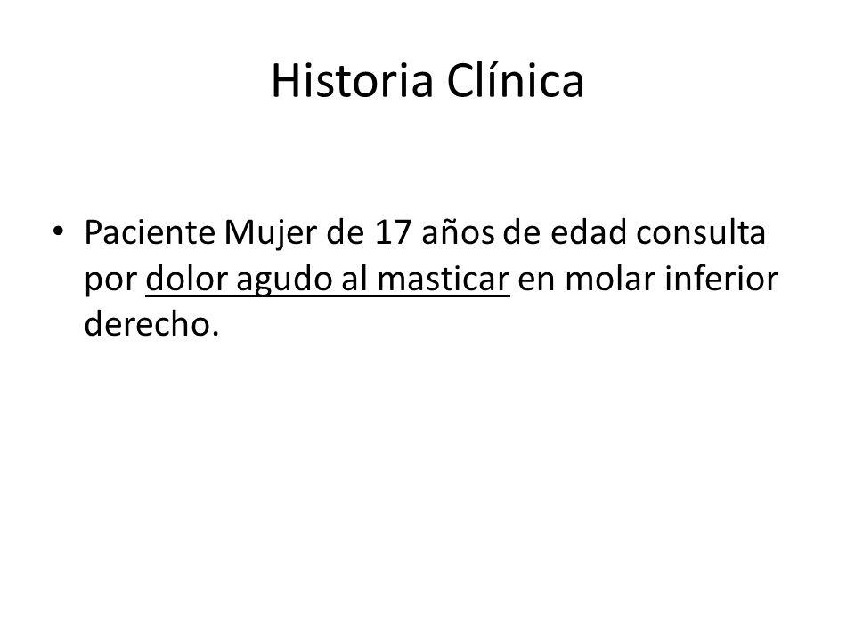 Historia Clínica La historia clínica no refleja ningún antecedente patológico significativo, ninguna enfermedad actual y no toma medicación de forma habitual.