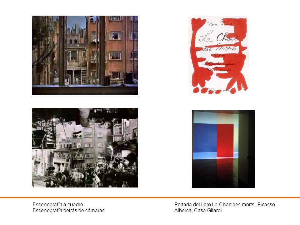 Escenografía a cuadro Escenografía detrás de cámaras Portada del libro Le Chart des morts, Picasso Alberca, Casa Gilardi