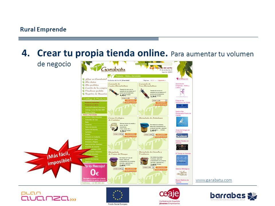 Rural Emprende 4.Crear tu propia tienda online.