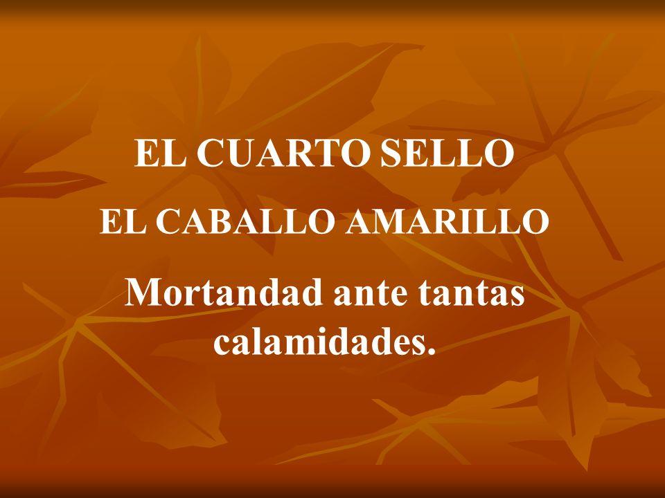EL CUARTO SELLO EL CABALLO AMARILLO Mortandad ante tantas calamidades.