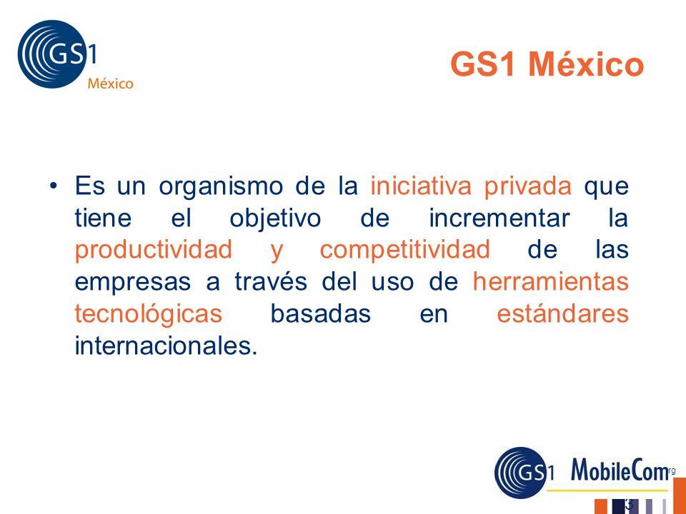 www.gs1mexico.org GS1 México Es un organismo de la iniciativa privada que tiene el objetivo de incrementar la productividad y competitividad de las em