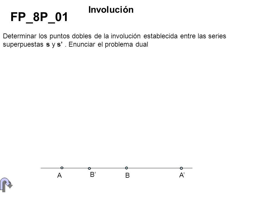 Determinar los puntos dobles de la involución establecida entre las series superpuestas s y s. Enunciar el problema dual FP_8P_01 Involución A B B A