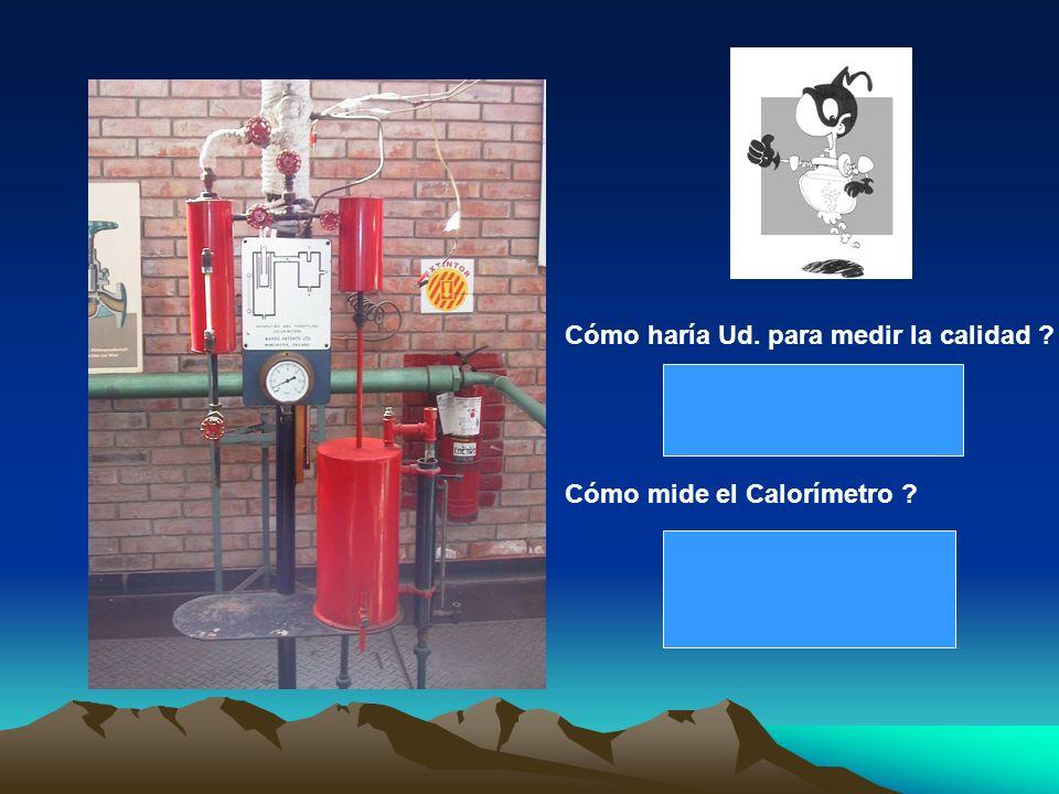 Cómo haría Ud. para medir la calidad ? Cómo mide el Calorímetro ?