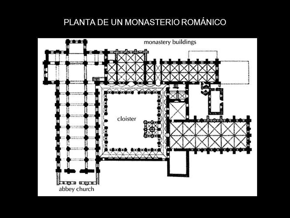 PLANTA DE UN MONASTERIO ROMÁNICO