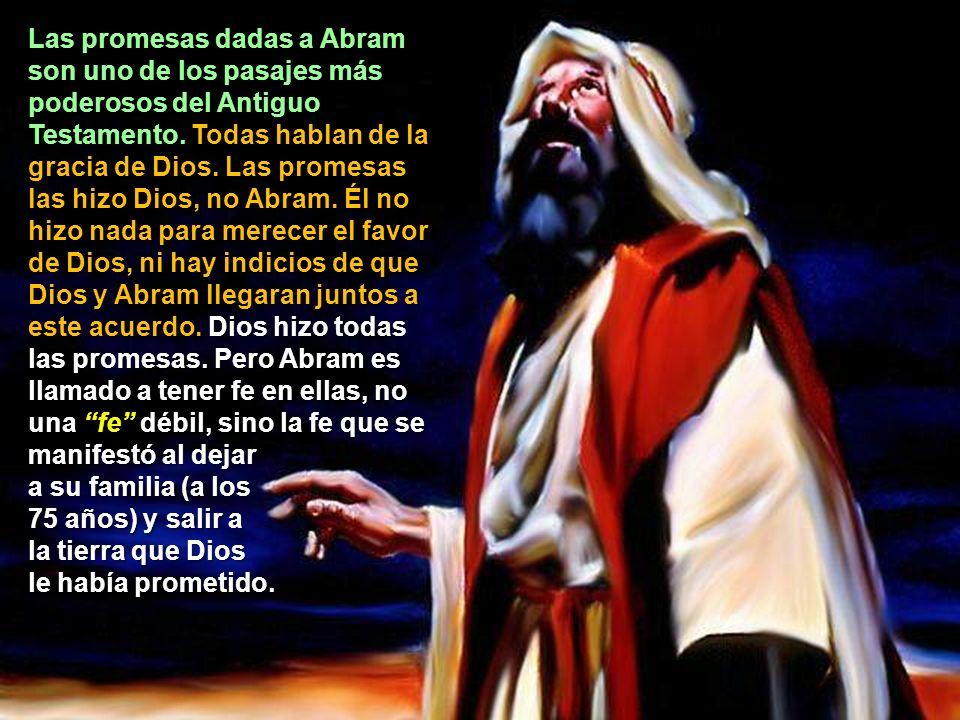 2.- EL PACTO CON ABRAM ¿Qué promesas hizo Dios a Abram en Génesis 12:1 al 5? ¿Cuál fue la respuesta de Abram? Las promesas dadas a Abram son uno de lo