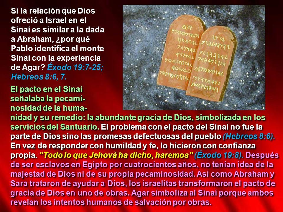 Si la relación que Dios ofreció a Israel en el Sinaí es similar a la dada a Abraham, ¿por qué Pablo identifica el monte Sinaí con la experiencia de Ag
