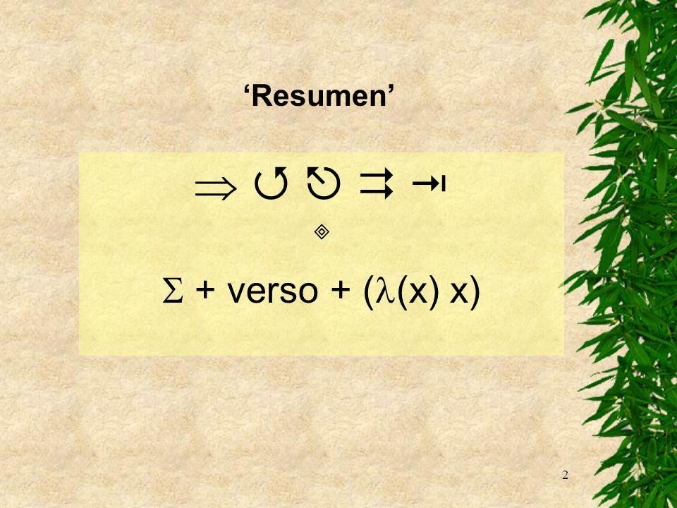 2 + verso + ( (x) x) Resumen
