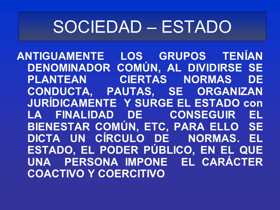 SURGIMIENTO DEL ESTADO PODER GARANTIA D.Y O.