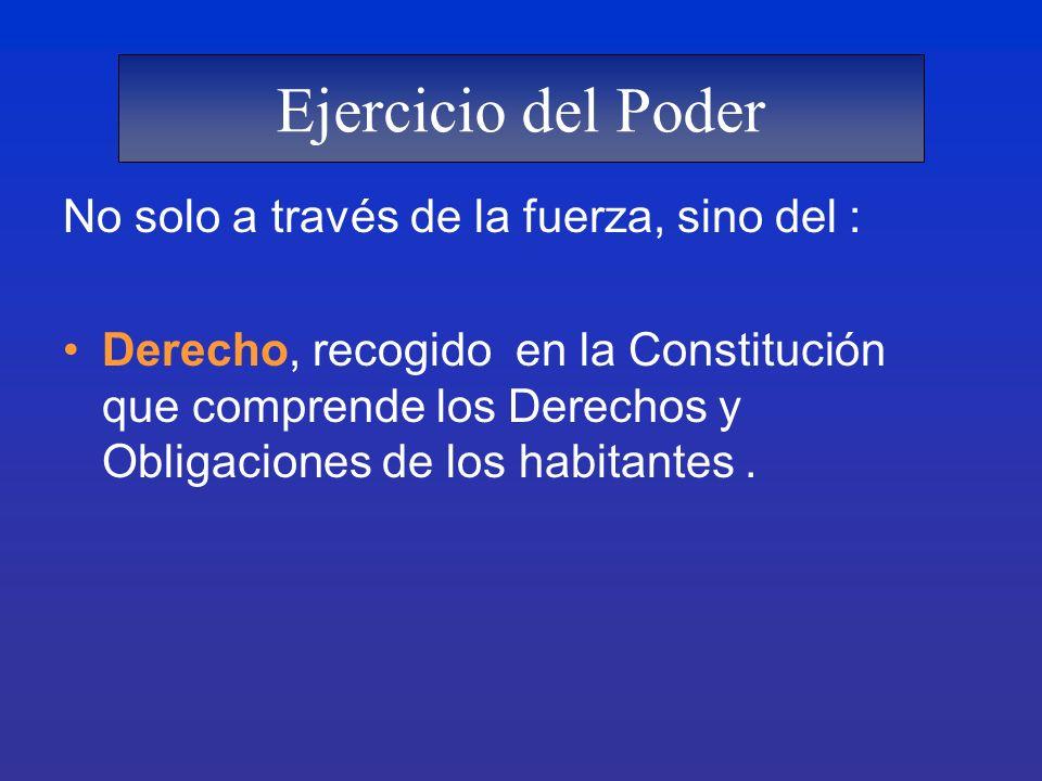 ELEMENTOS DEL ESTADO 1.- PODER PÚBLICO.- Es la disposición de la Fuerza que permite ordenar y dirigir la administración pública y conservar el orden, la seguridad y la tranquilidad colectiva.