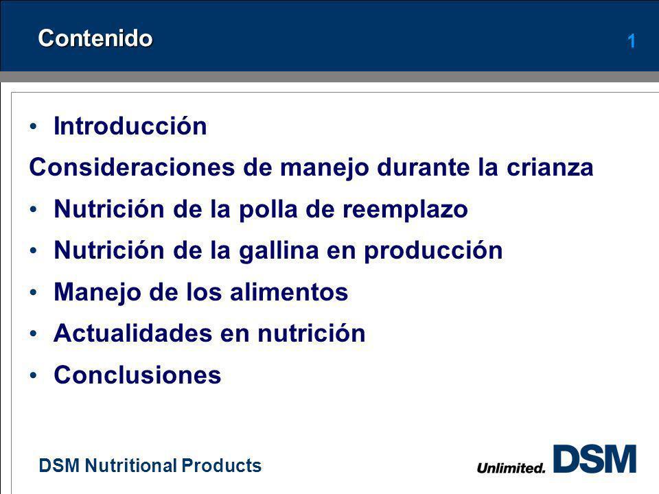 DSM Nutritional Products 0 Nutrición de la gallina de postura moderna Marcela Patricia Rojas Méndez MSc Nutricionista Países Andinos Girón, junio 1 de