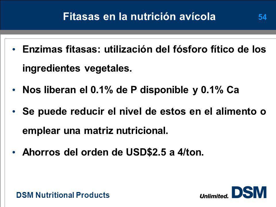 DSM Nutritional Products 53 Efecto de los PNA sobre la digestibilidad del alimento Barrera física que dificulta la acción de las enzimas digestivas (F