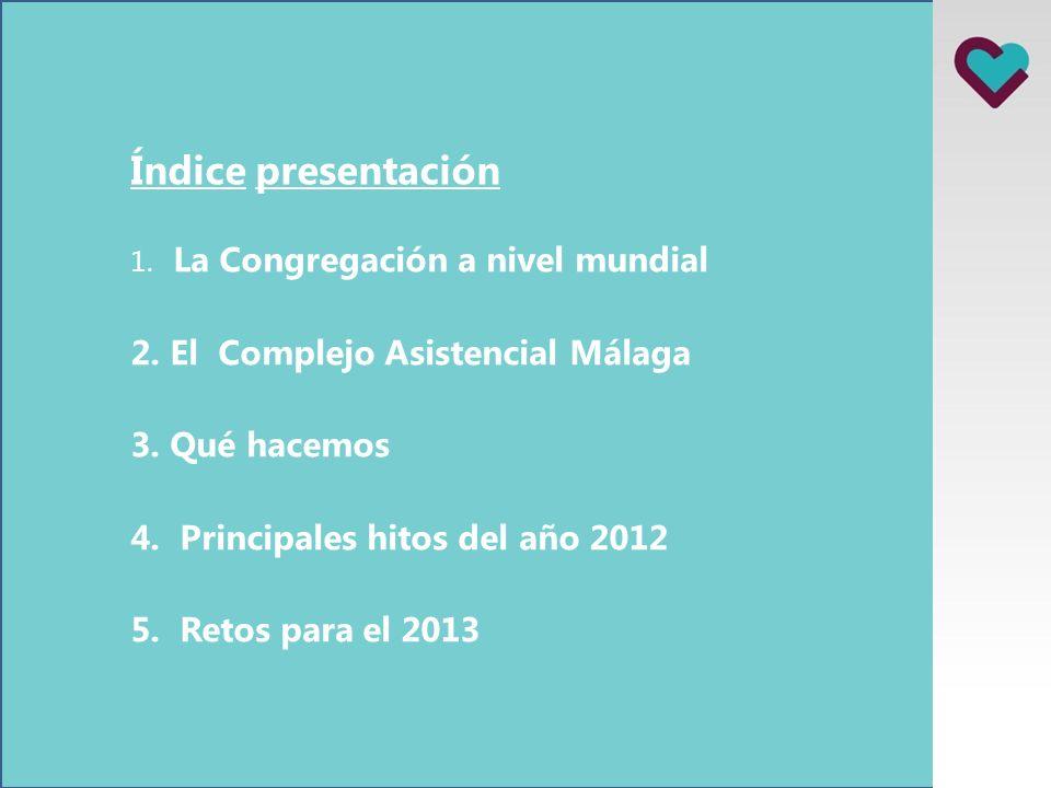 Índice presentación 1.La Congregación a nivel mundial 2.