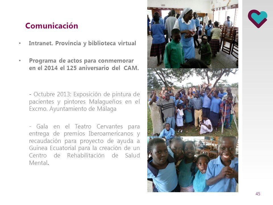 Cooperación Creación de un Convenio de Colaboración con Caritas que proporcione consultas externas gratuitas. 44 Identidad y cultura