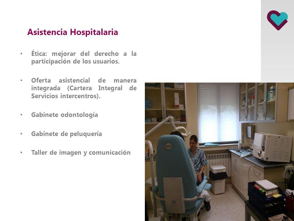 Asistencia Hospitalaria Participación de los usuarios y sus familias. Implantar los sistemas de comunicación familiar-usuarios. Sistema comunicación i