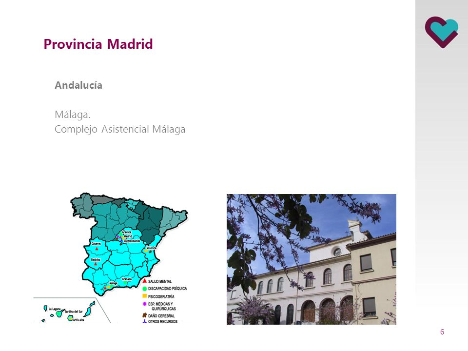 Provincia Madrid Andalucía Málaga. Complejo Asistencial Málaga 6