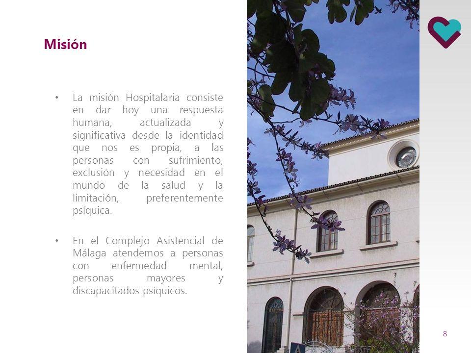 Reseña histórica En el año 1884 llegaron a Málaga las primeras cuatro hermanas hospitalarias enviadas por San Benito Menni para atender un orfanato de