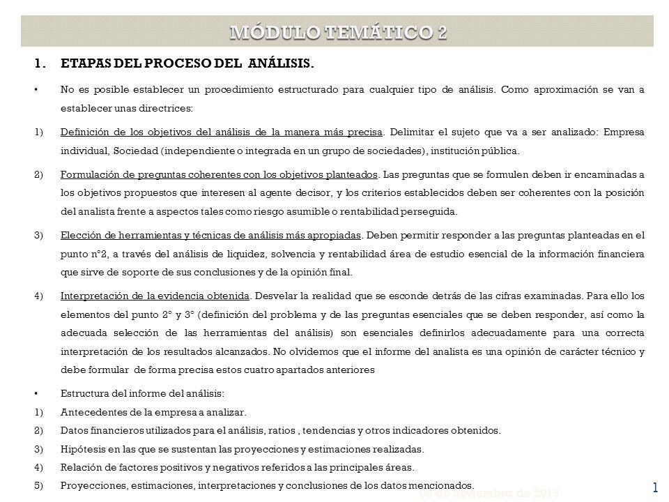 1.ETAPAS DEL PROCESO DEL ANÁLISIS. No es posible establecer un procedimiento estructurado para cualquier tipo de análisis. Como aproximación se van a