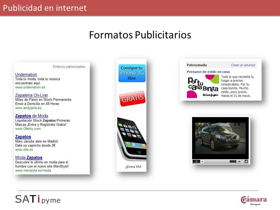 Formatos Publicitarios Publicidad en internet