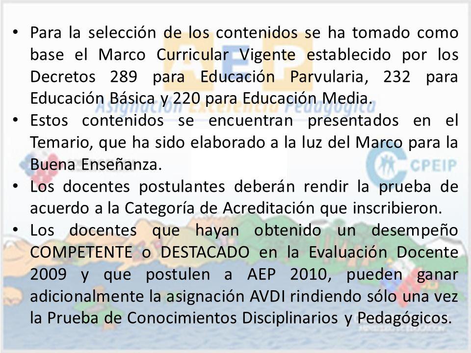 Para la selección de los contenidos se ha tomado como base el Marco Curricular Vigente establecido por los Decretos 289 para Educación Parvularia, 232