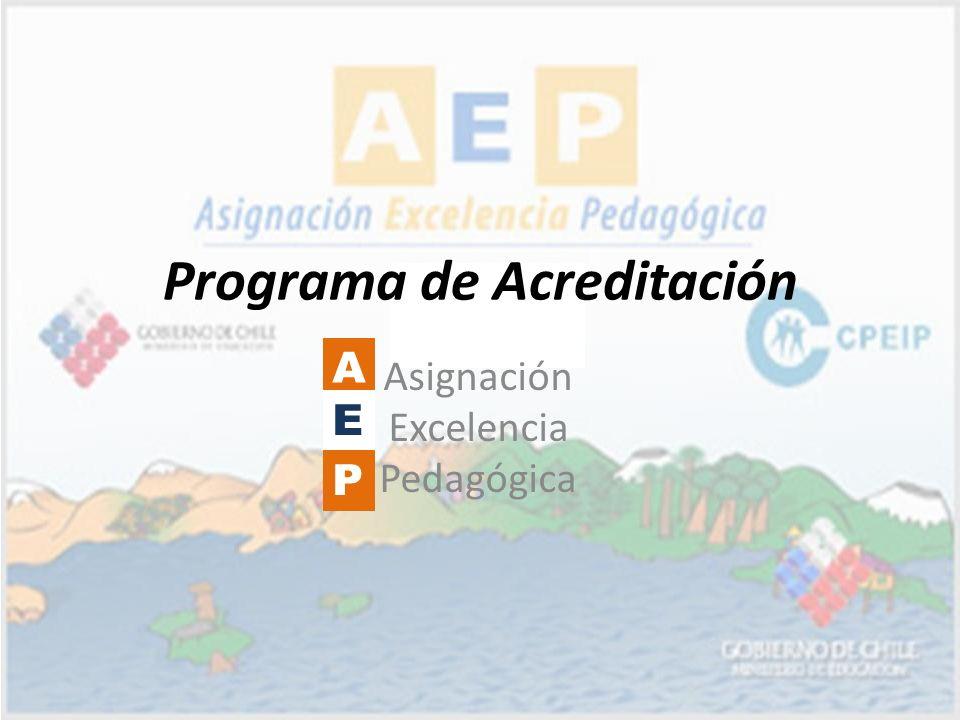 Programa de Acreditación Asignación Excelencia Pedagógica A E P